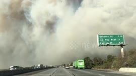 Newsflare - Corona: Man is Killed Jumping off Freeway and is