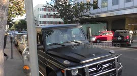 Hilary Duff Is Business Casual Getting Into Her Custom G Wagon Mercedes Benz  In