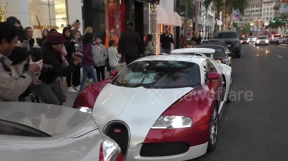 Newsflare   Tyga Shows Off His New $2 Million Dollar New Bugatti Sport Car  In Beverly Hills