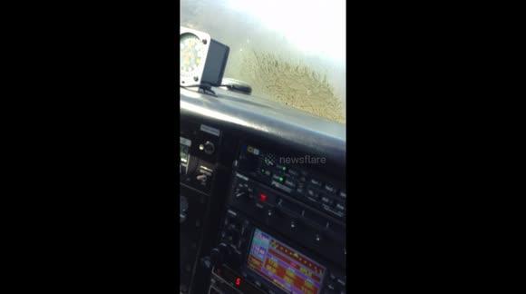 Newsflare - Pilot captures terrifying moment plane crash-lands