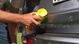 Newsflare - How to remove a dent from your bumper with hot water