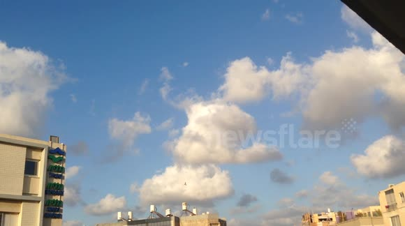 MUST WATCH: 2 Iron Dome Missiles Intercept Hamas Rockets Over Tel-Aviv - July 15, 2014
