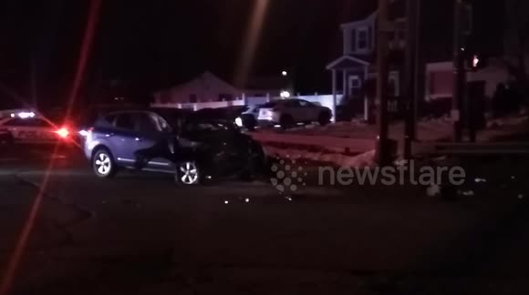 Newsflare Two Car Crash And A House In Selden Ny