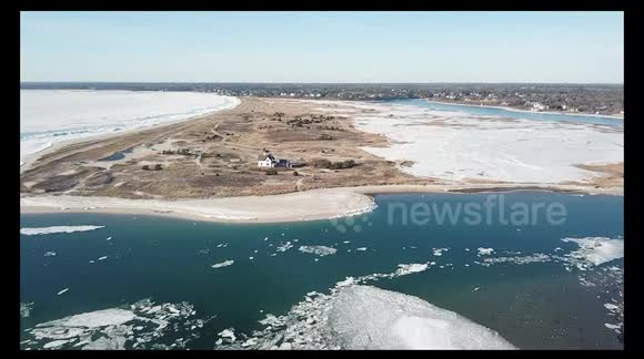 Newsflare - A Frozen Ocean at Chatham, Cape Cod