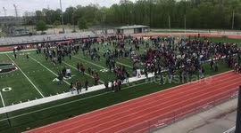 Newsflare - Memphis-area high-school students stage walkout