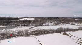 Newsflare - Drone footage shows ice breakup in Maine's Aroostook river