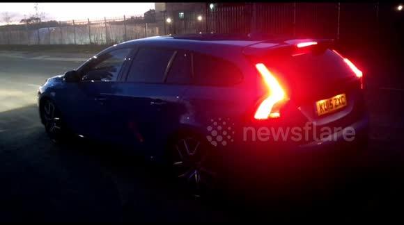 Newsflare - Volvo V60 Polestar 0-60mph Launch Control start