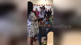Newsflare - COMPLETE SURPRISE Marriage Proposal - Ambush