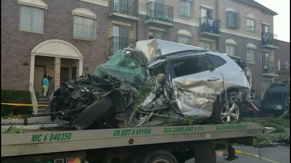 Newsflare - Garbage truck involved in multiple-car crash in