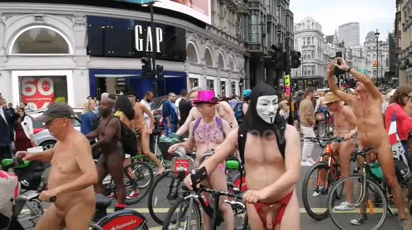 Newsflare - London Naked Bike Ride 4184536df