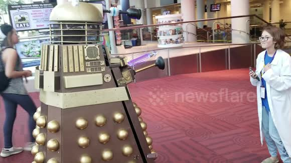 Dalek From Dr Who Makes Appearance At Denver Comic Con