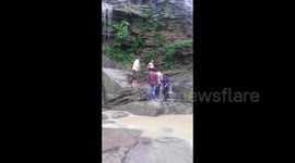 Newsflare - Suicidal woman saved after jumping off bridge