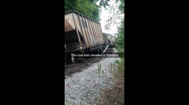 Newsflare - Track damaged and traffic slowed after train derails in