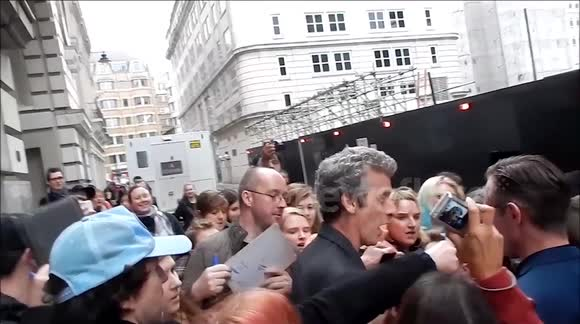 Peter Capaldi mobbed by fans in London