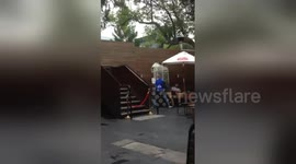 Newsflare - Westfield Parramatta jump from balcony resuscitation