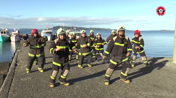 Chilean firefighters make brilliant dance video