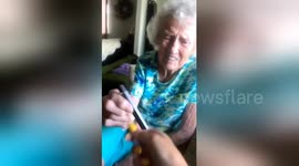 Newsflare - Hit it! Watch this adorable grandmother's reaction to a Juul