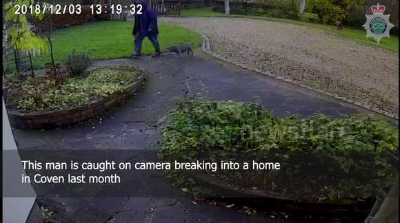 Newsflare - Police hunting dog-walking burglar caught on