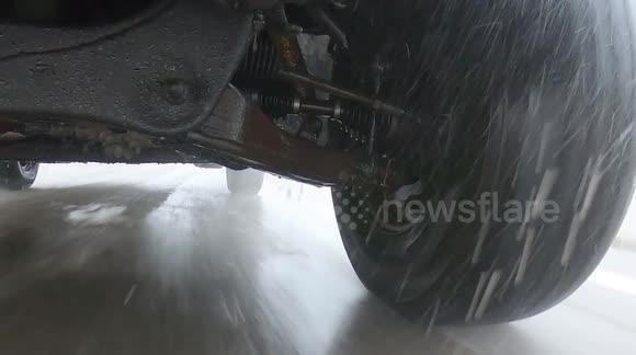 Newsflare - Salt shortage leaves ice covered slippery