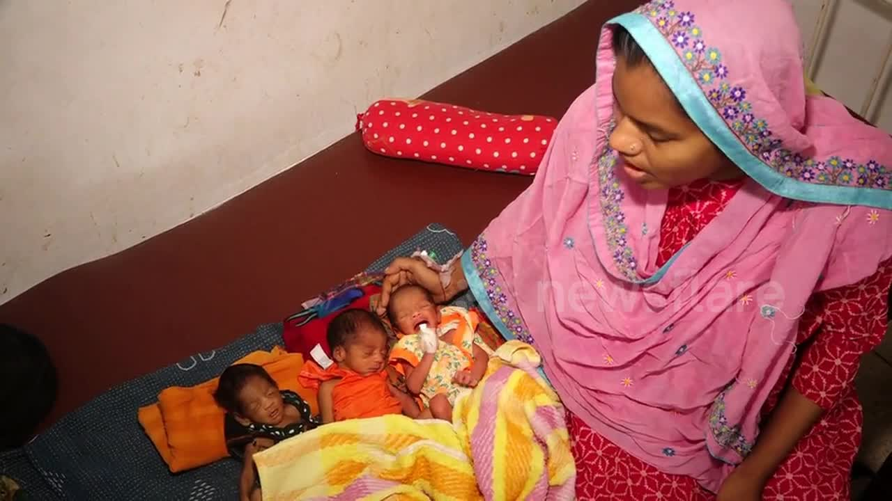 Newsflare - Bangladesh woman gives birth to twins only 27