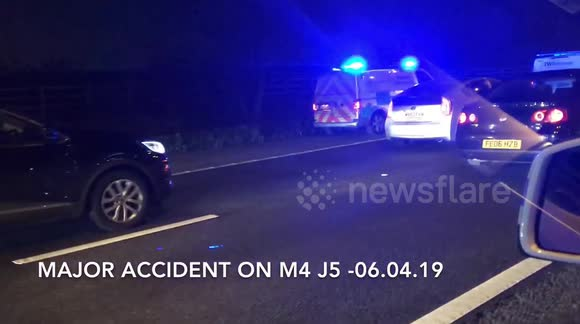 Newsflare - M4 J4 Accident 06th April 19