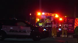 Newsflare - 5 Freeway Big Rig Crash Leaves Cab On Top Of Trailer