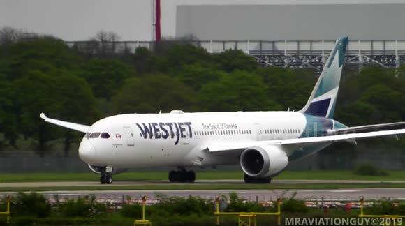 Newsflare - INAUGURAL Westjet Boeing 787-9 Transatlantic