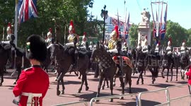 Newsflare - Queen's official birthday marked in London with