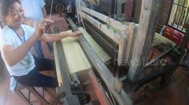 Newsflare - Traditional handmade silk textile weaving in