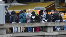 Newsflare - Hundreds of BTS fans queue outside The O2 in the
