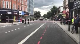 Newsflare - London police attend scene of deadly crash on