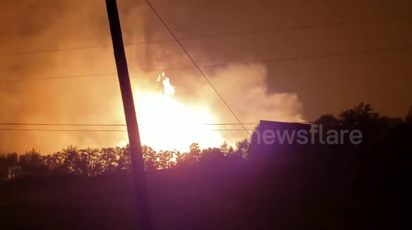 Newsflare - At least one dead in massive gas line explosion