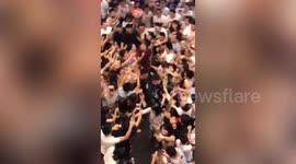 Newsflare - Retiring chairman Jack Ma sings with his