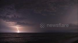 Newsflare - 4K Cinematic Beach Lightning Storm Time Lapse - Navarre Beach,  Pensacola Beach, Florida