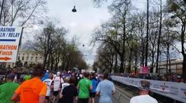 Newsflare - Finish line at the London Marathon