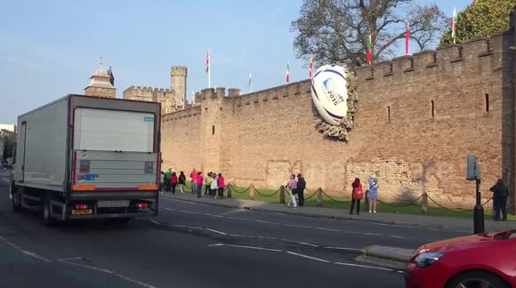 Rugby 2015 cardiff, ball in the wall 3