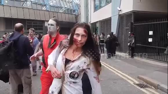 """Zombies"" walk through London"