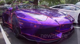 Newsflare Crazy Purple Chrome Lamborghini Aventador Impounded In