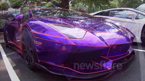 Newsflare Mental Looking Arab Chrome Purple Orange Lamborghini