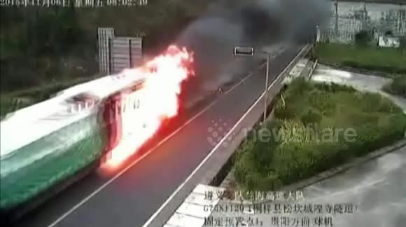 Brave trucker drives burning lorry out of tunnel to avoid potential explosion