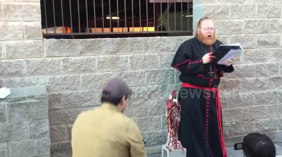 Newsflare - Adam Daniels member from a Satanic group leads an anti