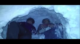 Newsflare - We built an igloo during Beast from the East