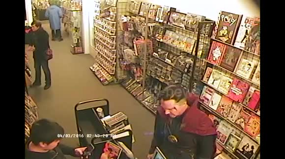 Costumed Benedict Cumberbatch visits comic book store