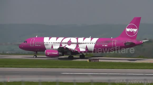 Wow Air A320 INAUGURAL Flight to Bristol Airport (13/5/16) | Landing & Takeoff | New Airline+ATC!
