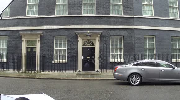 David Cameron leaves Downing Street for the State Opening of Parliament