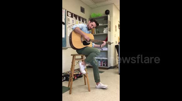 DUPLICATE History teacher reveals his hidden talent to students