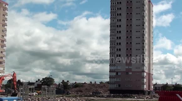 Blackpool's last remaining high-rise flats to be demolished today