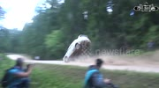 Dramatic rally crash in Lithuania