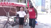 60-year-old Olympics fan pedals rickshaw from China to Rio