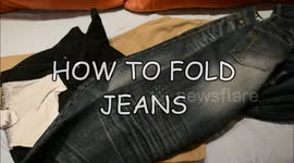 how to fold jeans in under 1 second